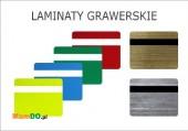 Laminat grawerski grubość ok. 1, 5 mm Laser co2